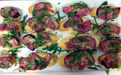Beef Tenderloin with Gruyere and Spinach